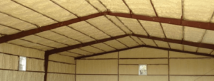Warehouse with spray foam insulation
